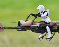De Star Wars Speeder Bike Quadcopter