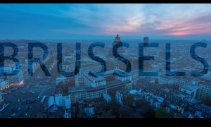 Reisbureau maakt drone video in Brussel