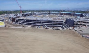 Drones filmen bouw Apple's Campus 2